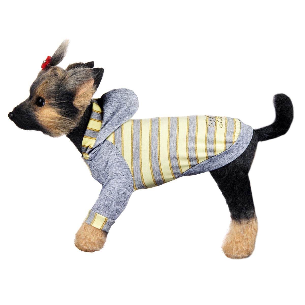 """Футболка для собак Dogmoda """"Грей"""", унисекс. Размер 4 (XL)"""