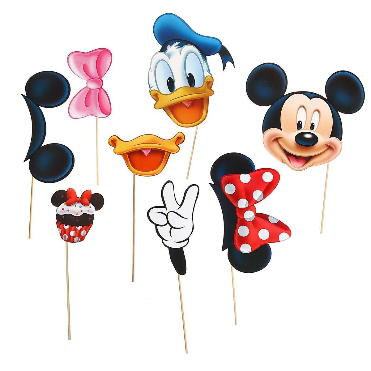 Набор фотобутафории Disney Микки Маус и друзья, 8 предметов корзина для игрушек disney микки маус и его друзья 2732136