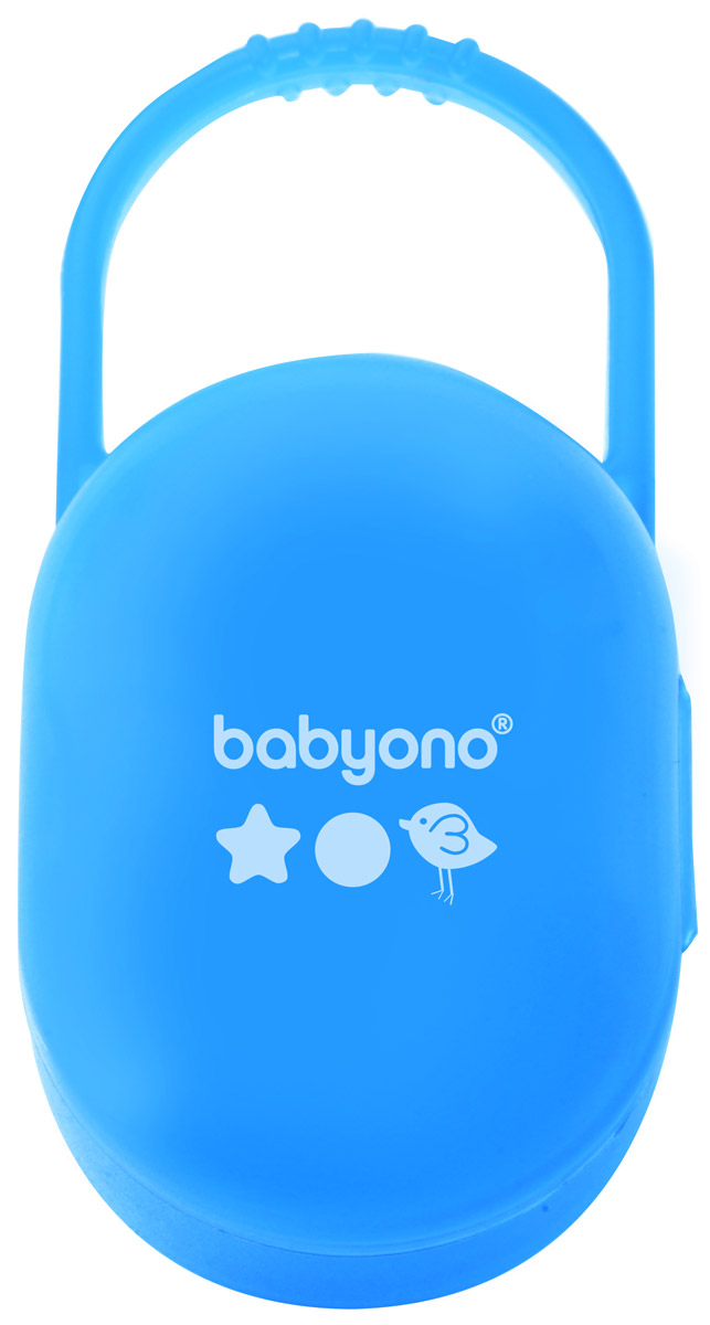 BabyOno Футляр - держатель для пустышек голубой