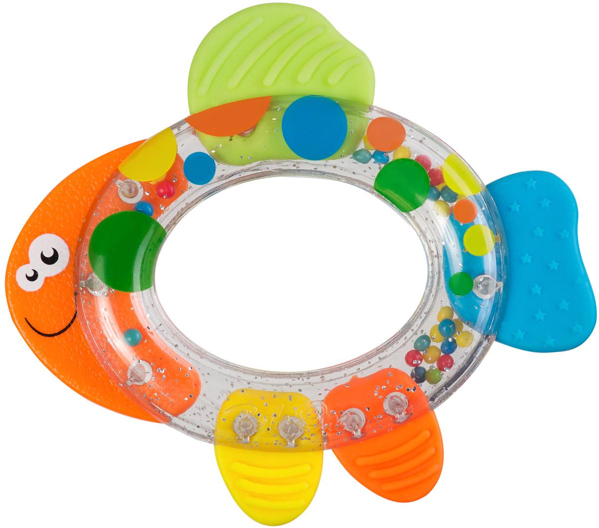 BabyOno Погремушка-прорезыватель Рыбка недорого