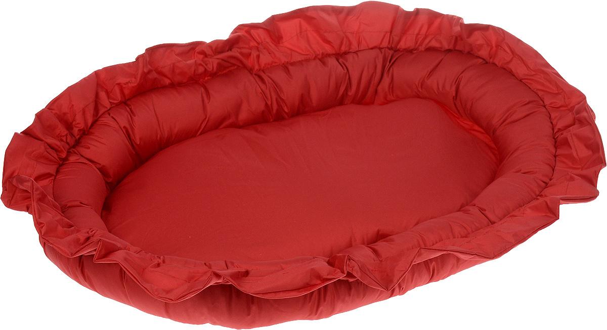 Лежак для животных ЗооМарк Самобранка, цвет: красный, 74 х 55 х 10 см лежак для животных зоомарк самобранка цвет синий 74 х 55 х 10 см