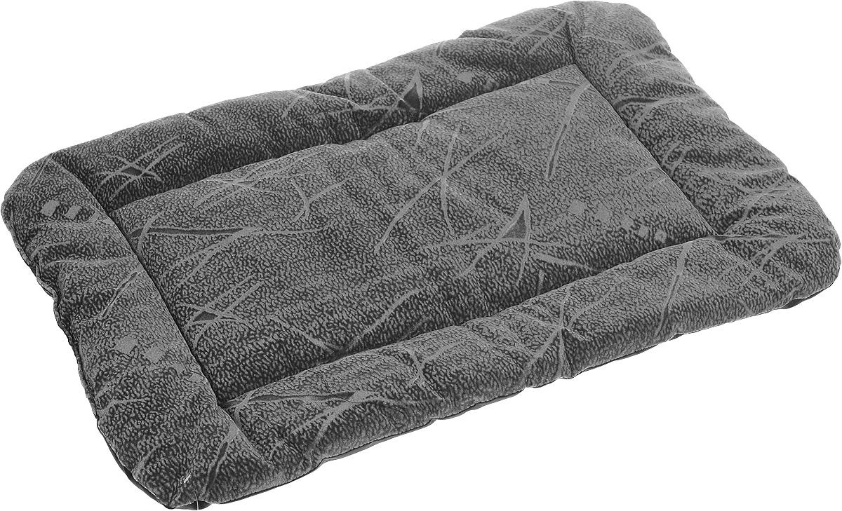 Матрас для животных ЗооМарк №3, цвет: серый, черный, 42 х 62 см цена