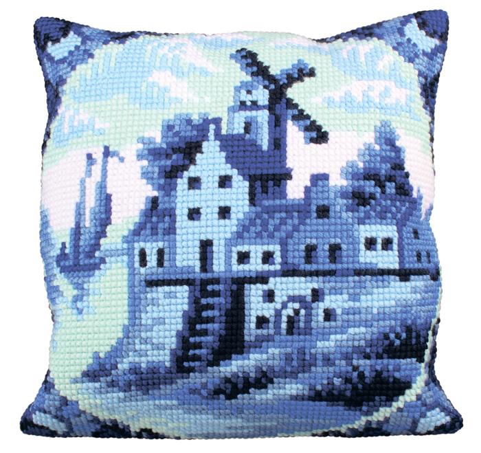 Набор для вышивания подушки Collection D'Art, 40 х 40 см. 5201 набор для вышивания подушки collection d art 40 х 40 см 5 193