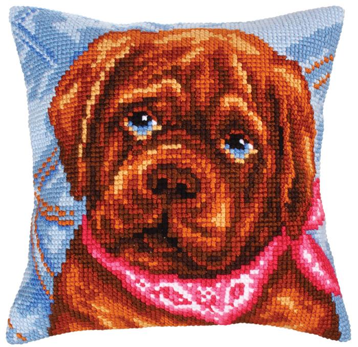 Набор для вышивания подушки Collection D'Art, 40 х 40 см. 5210 набор для вышивания подушки collection d art 40 х 40 см 5 193