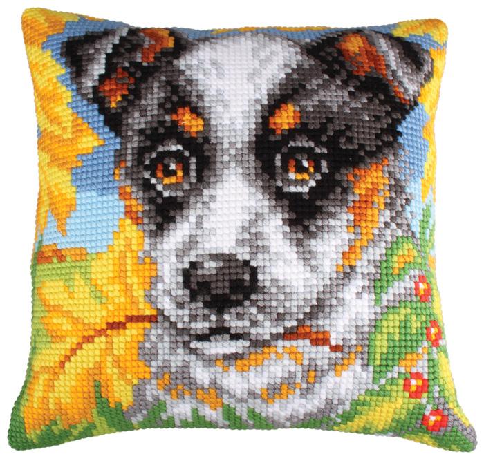 Набор для вышивания подушки Collection D'Art, 40 х 40 см. 5211 набор для вышивания подушки collection d art 40 х 40 см 5 193