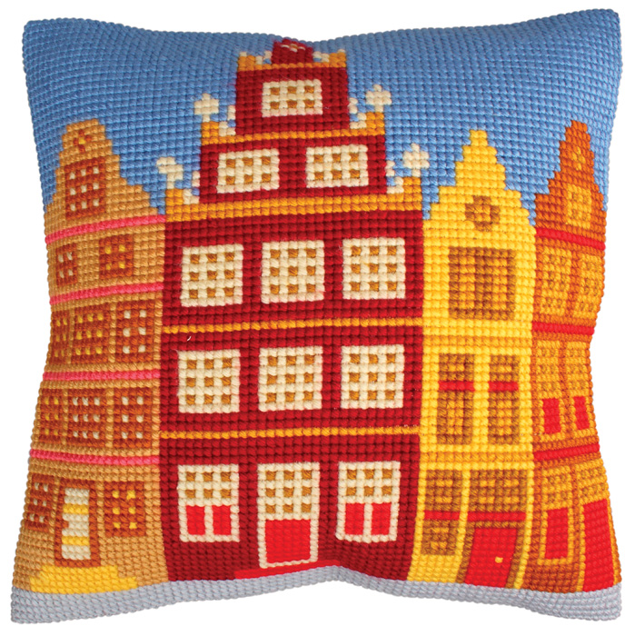 Набор для вышивания подушки Collection D'Art, 40 х 40 см. 5223 набор для вышивания подушки collection d art 40 х 40 см 5 193
