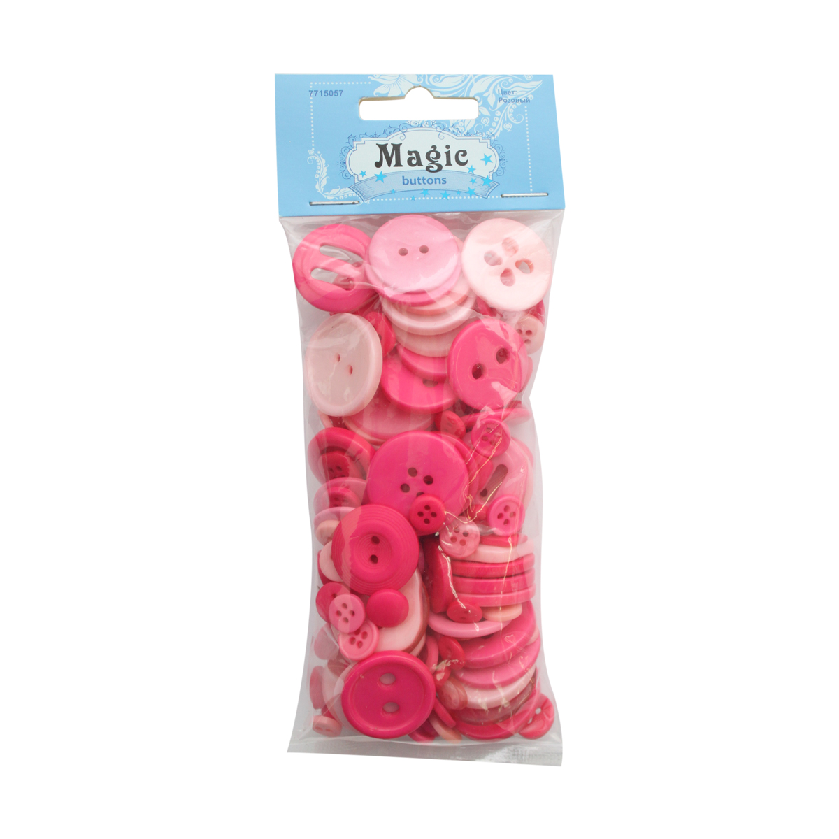"""Пуговицы декоративные Magic Buttons """"Палитра"""", цвет: розовый, 100 г"""