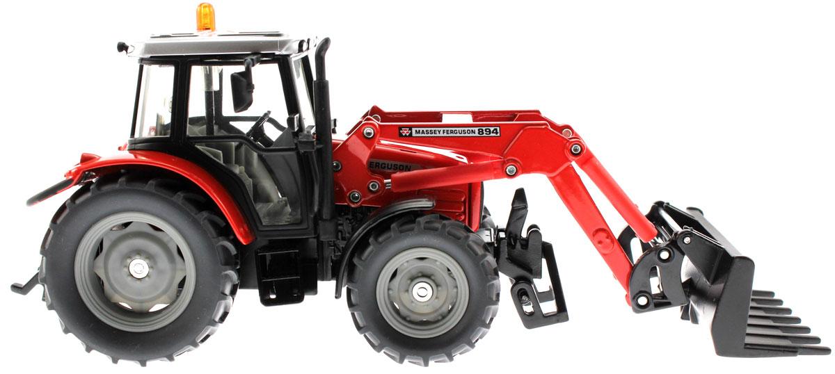 Siku Трактор Massey Ferguson 894 с ковшом-вилами siku siku 1843 трактор john deere с ковшом прицепом 1 87