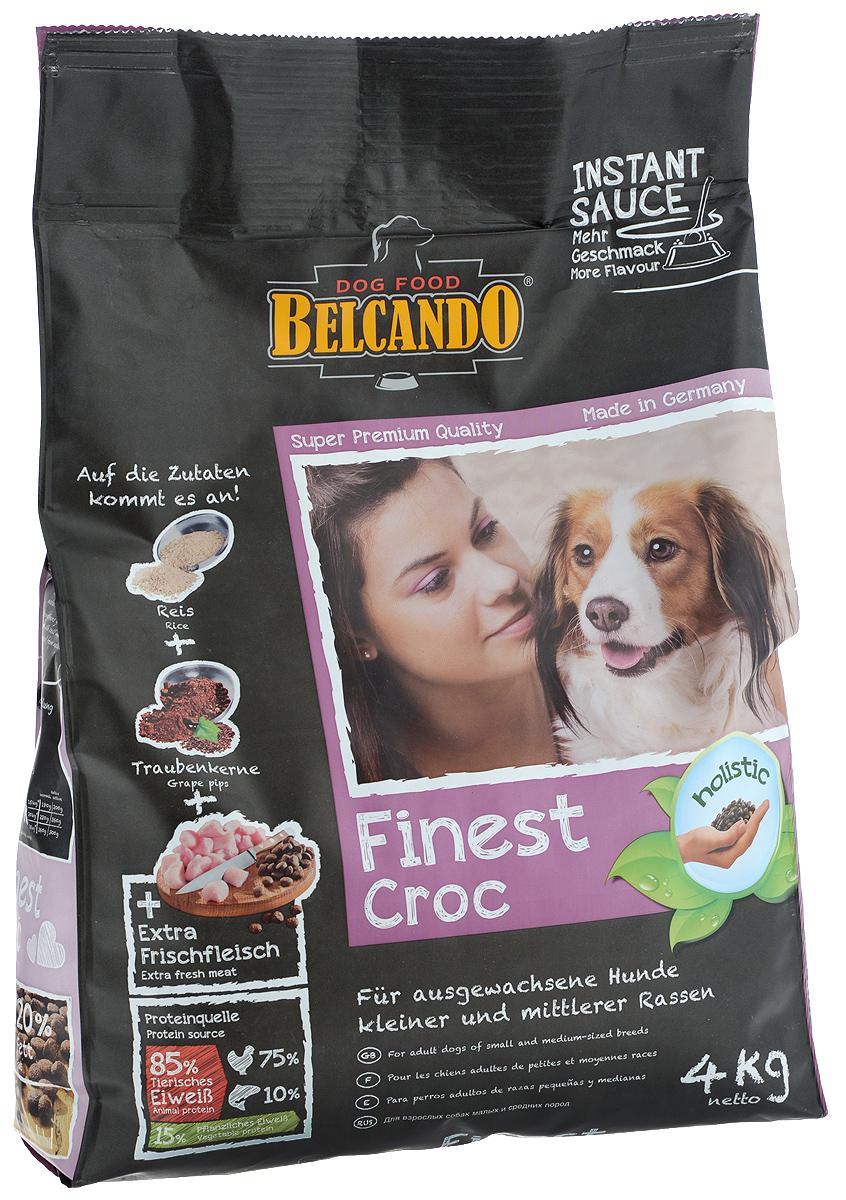 Корм сухой Belcando Finest Croc, для привередливых собак мелких и средних пород, с уткой и печенью, 4 кг. 61031 корм для собак belcando мясо печень конс 800г
