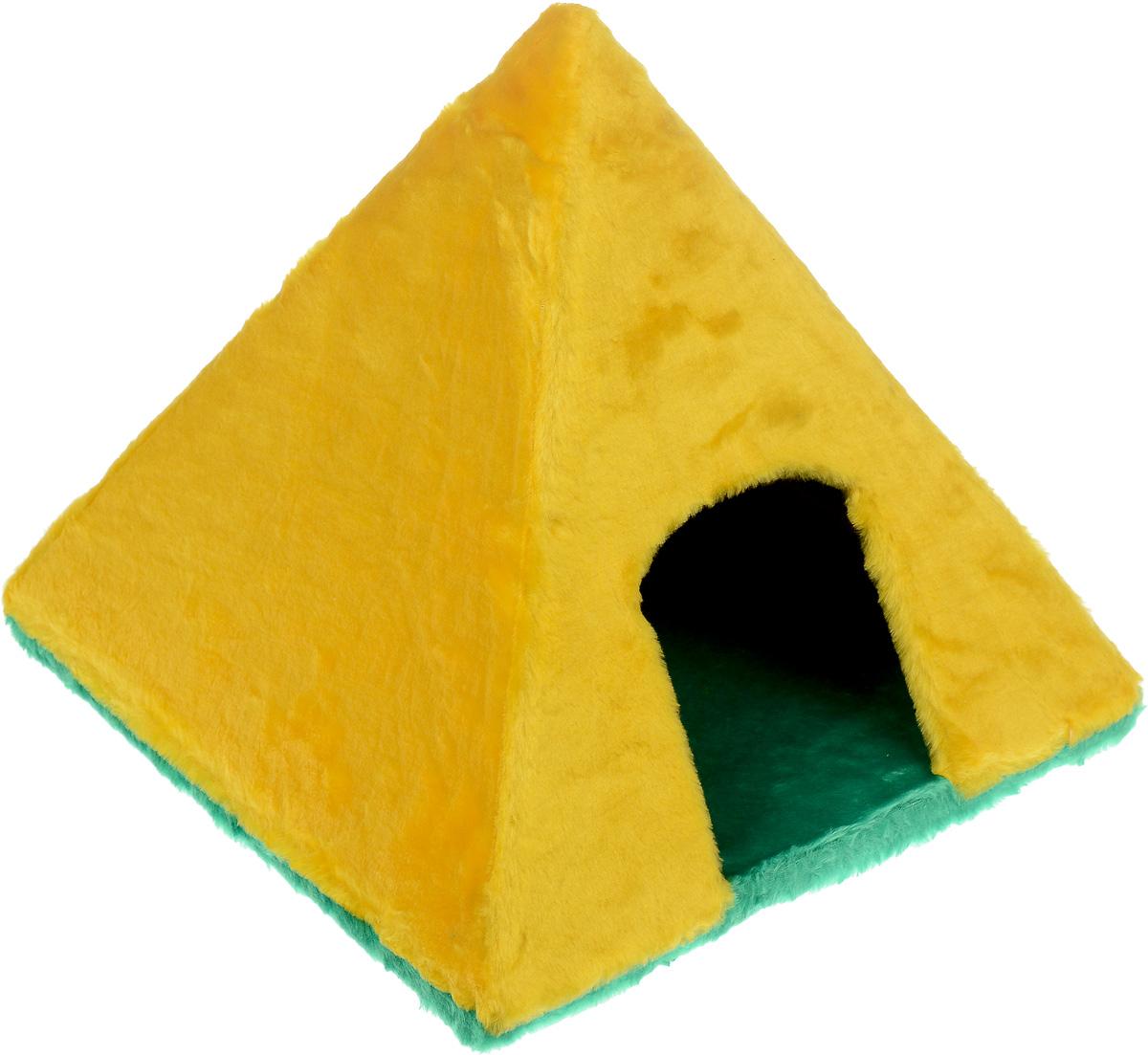 Домик для животных ЗооМарк Пирамидка, 41 х 41 х 37 см очиститель воздуха в автомобиль