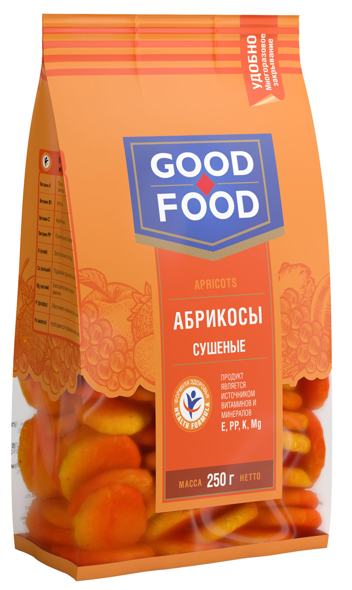 Good Food абрикосы сушеные,250г