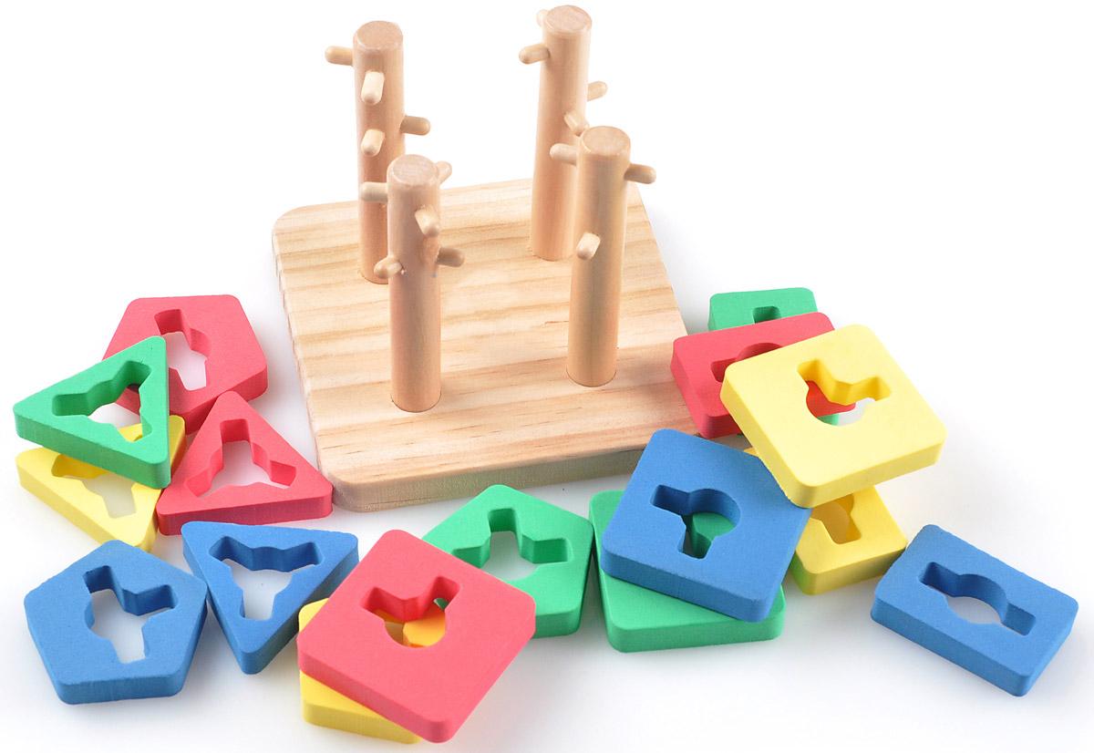 Мир деревянных игрушек Пирамидка Логический квадрат малый игрушка развивающая логический квадрат артикул д020