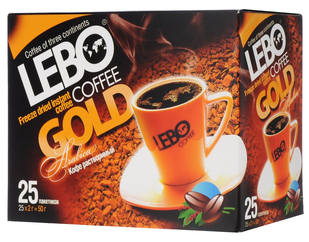 Lebo Gold кофе растворимый порционный, 25 шт х 2 г цены онлайн