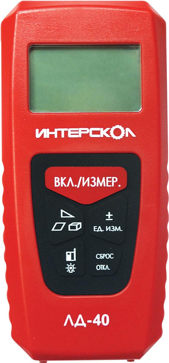 Фото - Дальномер лазерный Интерскол ЛД-40, цвет: красный дальномер elitech лд 600
