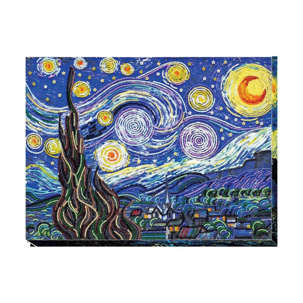 """Набор для вышивания бисером Абрис Арт """"Звездная ночь"""", 40 x 30 см"""