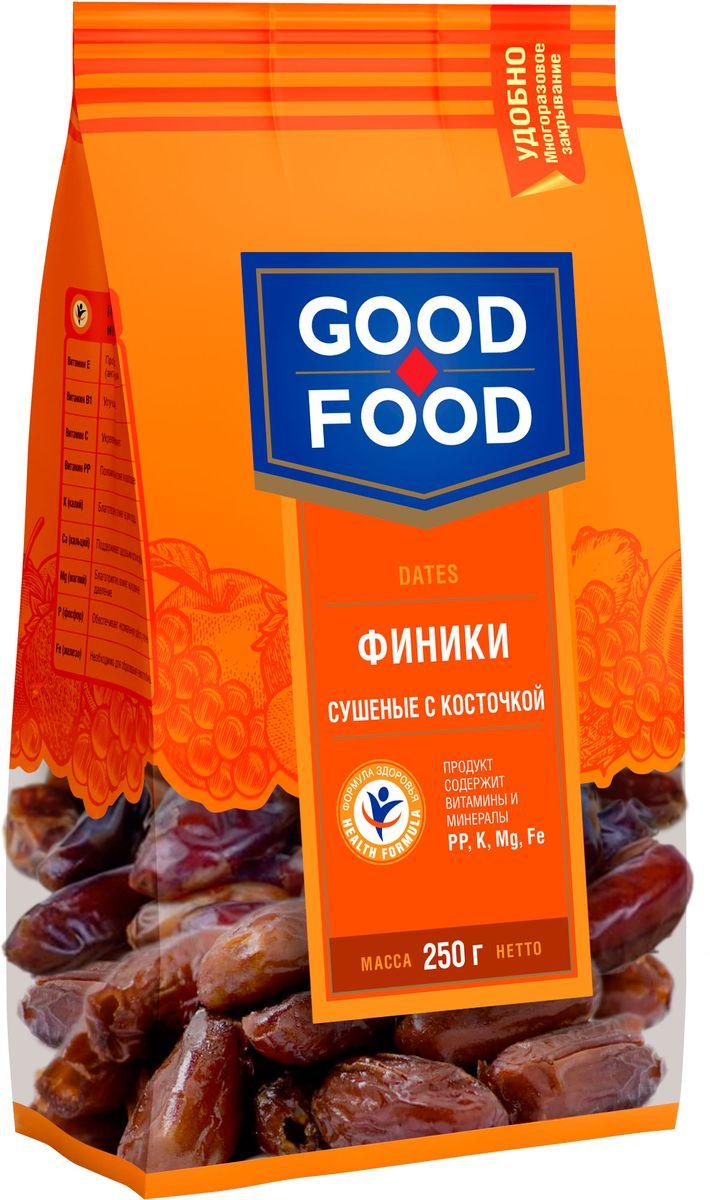 Good Food финики сушеныескосточкой,250г