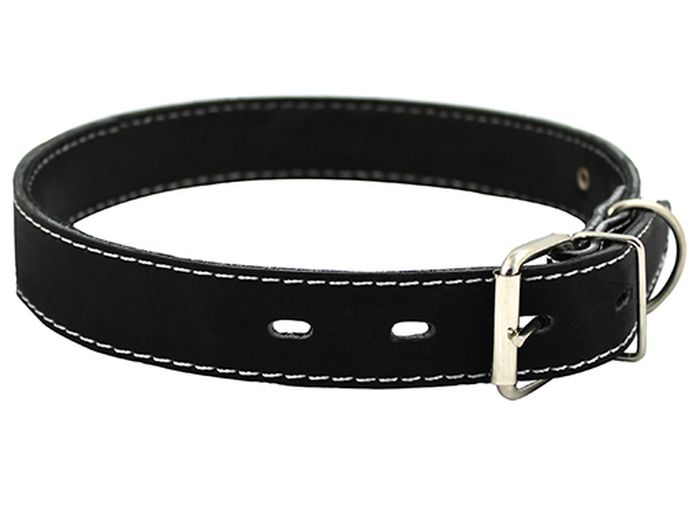 Ошейник для собак Каскад, ширина 2 см, диаметр 32-40 см, цвет: черный ошейник для собак каскад строгий быстросъемный диаметр 3 мм длина 55 см