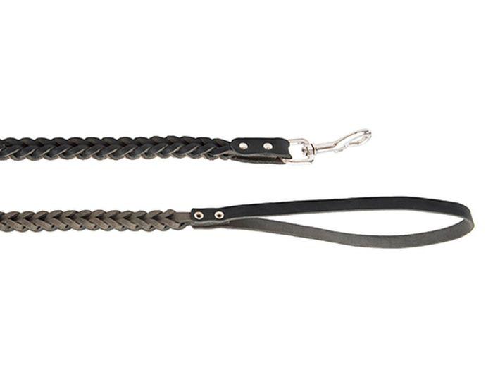 Поводок для собак Каскад, плетеный, тройной ширина 1,5 см, длина 100 см, цвет: черный поводок рыболовный afw titanium длина 15 см 9 кг 2 шт