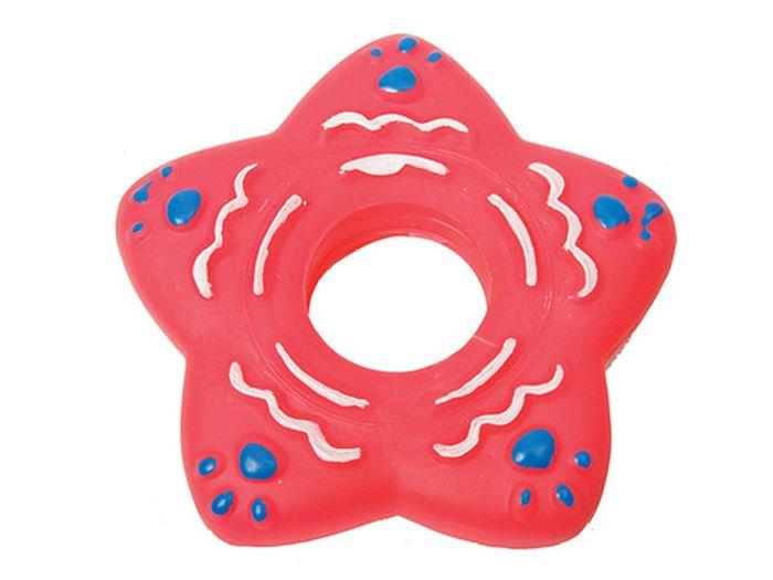 Игрушка для животных Каскад Кольцо-звезда, резиновое, 13 см макушка звезда 25 см