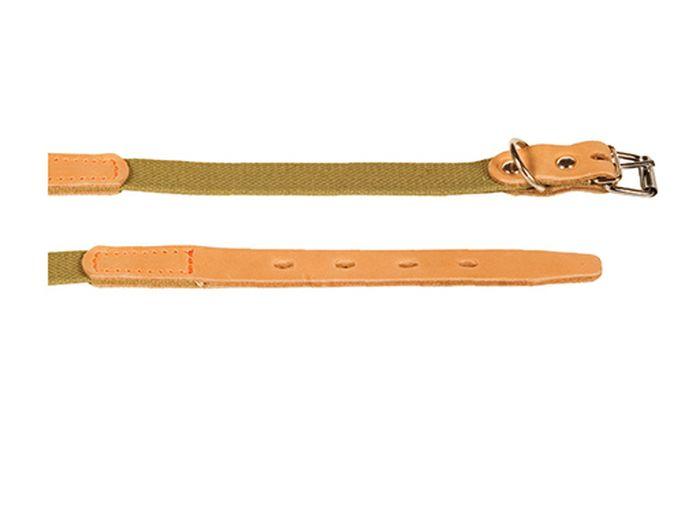 Ошейник брезентовый Каскад Классика, для собак, цвет: светло-коричневый, ширина 3,5 см, обхват шеи 50-59 см ошейник для собак каскад классика брезентовый ширина 2 см обхват шеи 31 39 см