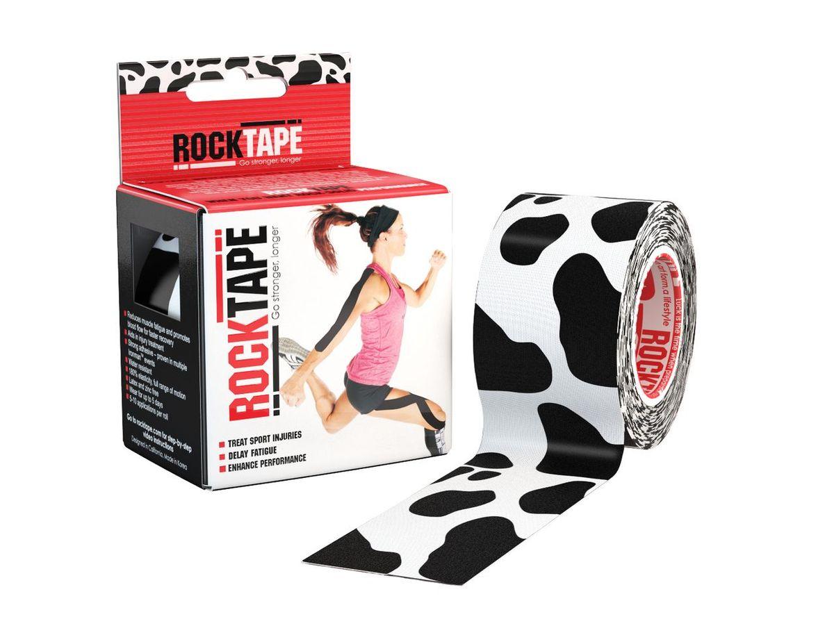 Кинезиотейп Rocktape Design, цвет: черный, белый, 5 x 500 см кинезиотейп rocktape digit цвет телесный 2 5 x 500 см 2 шт