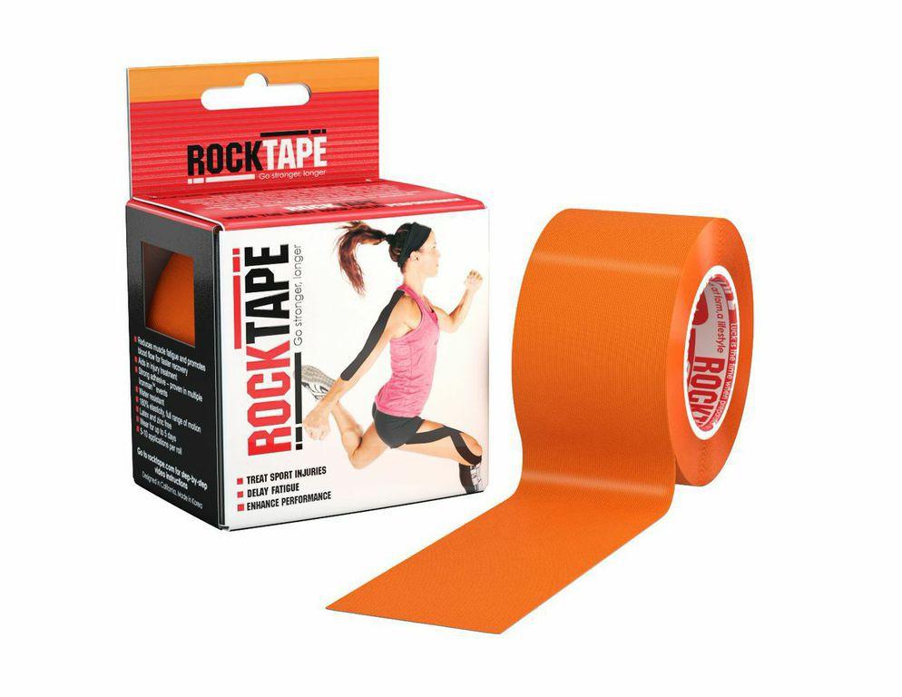 Кинезиотейп Rocktape Classic, цвет: оранжевый, 5 x 500 см кинезиотейп rocktape digit цвет телесный 2 5 x 500 см 2 шт