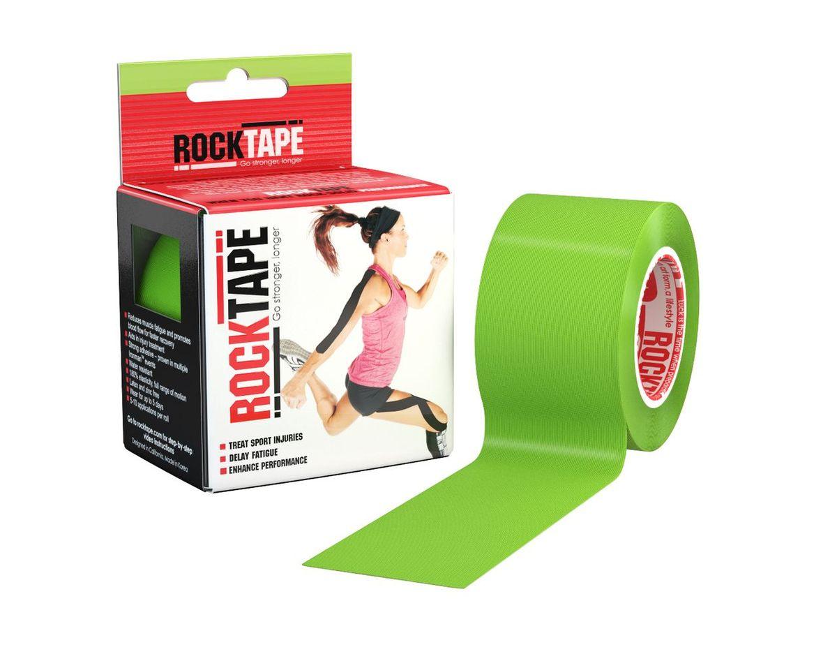 Кинезиотейп Rocktape Classic, цвет: светло-зеленый, 5 x 500 см