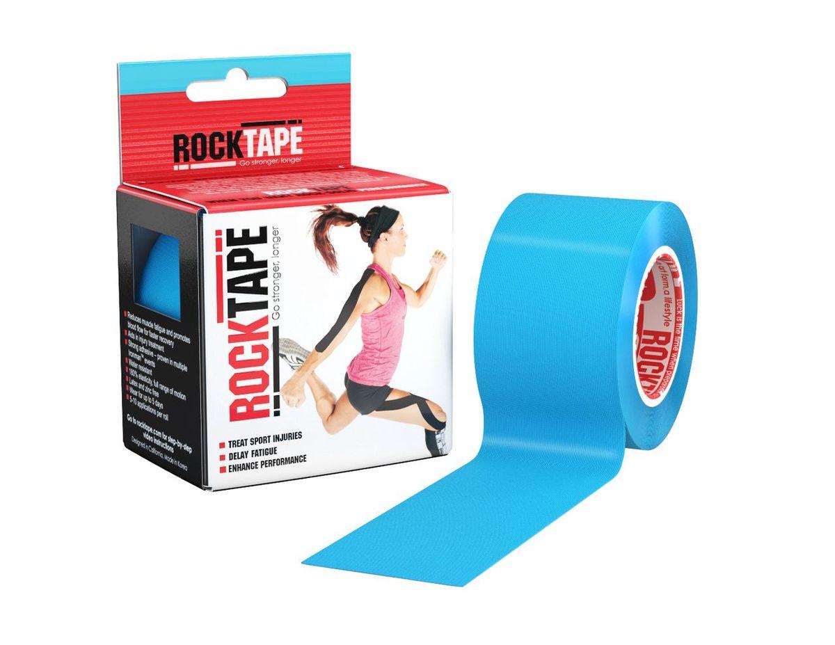 Кинезиотейп Rocktape Classic, цвет: голубой, 5 x 500 см кинезиотейп rocktape digit цвет телесный 2 5 x 500 см 2 шт
