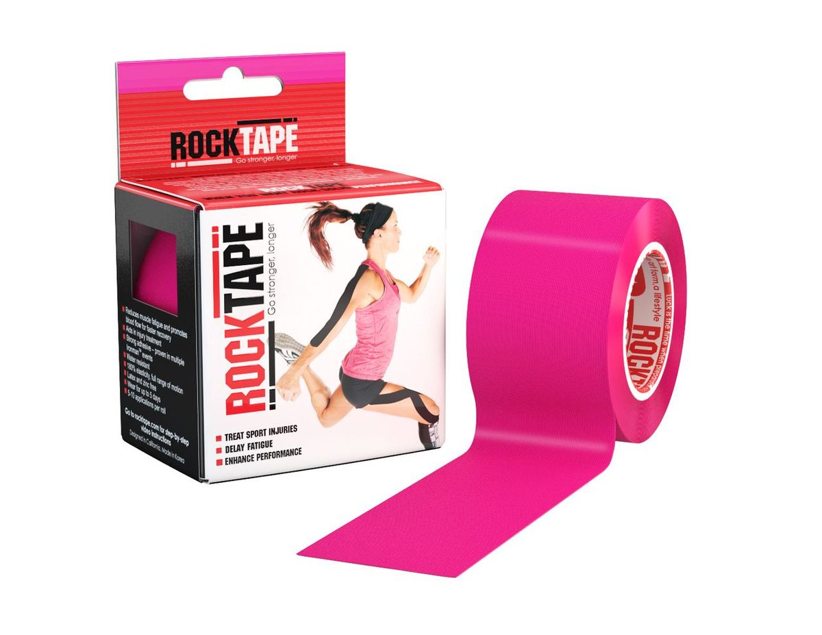 Кинезиотейп Rocktape Classic, цвет: розовый, 5 x 500 см кинезиотейп rocktape digit цвет телесный 2 5 x 500 см 2 шт