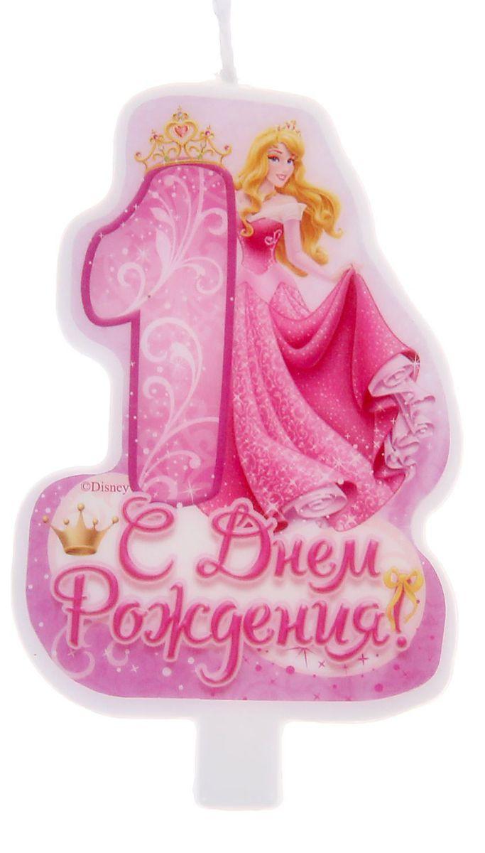 Disney Свеча для торта С днем рождения Цифра 1 Принцессы disney свеча для торта с днем рождения цифра 3 холодное сердце