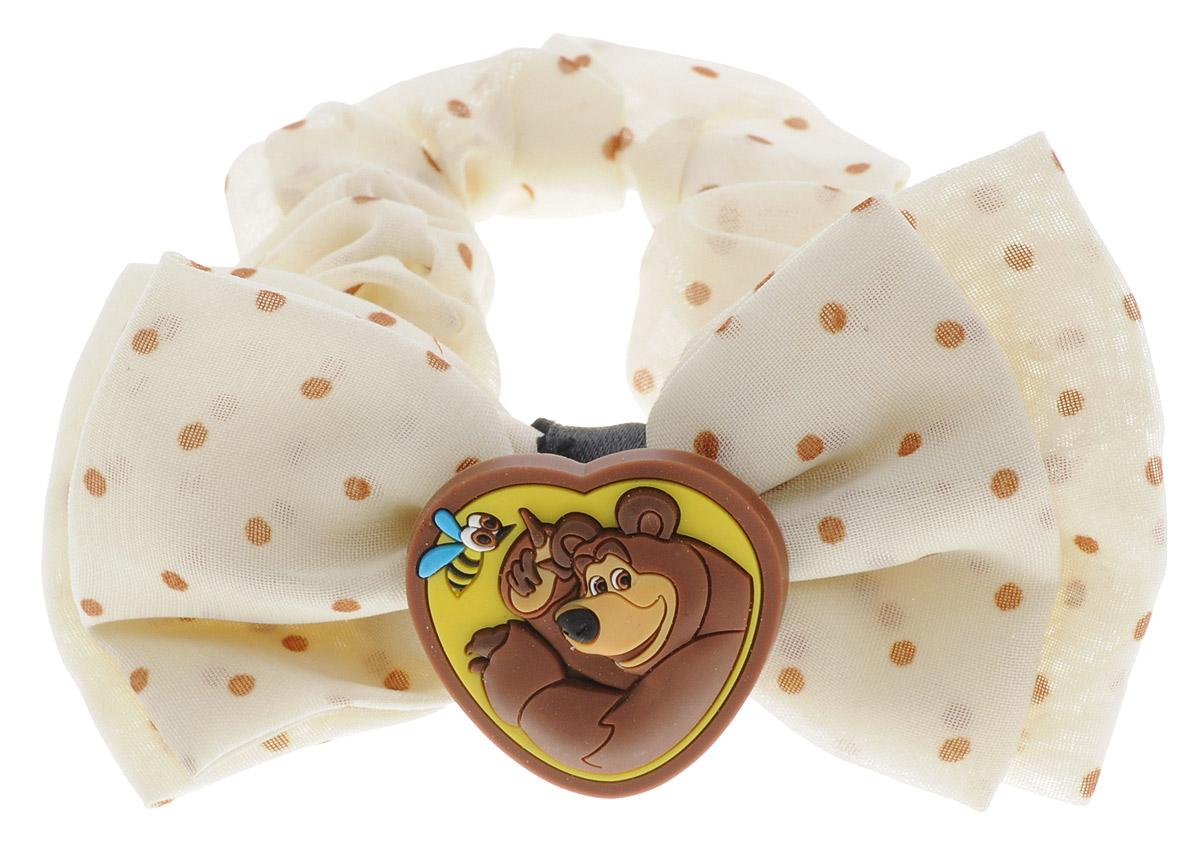 Маша и Медведь Резинка для волос Миша цвет бежевый ночник декоративный маша и медведь маша и чтение