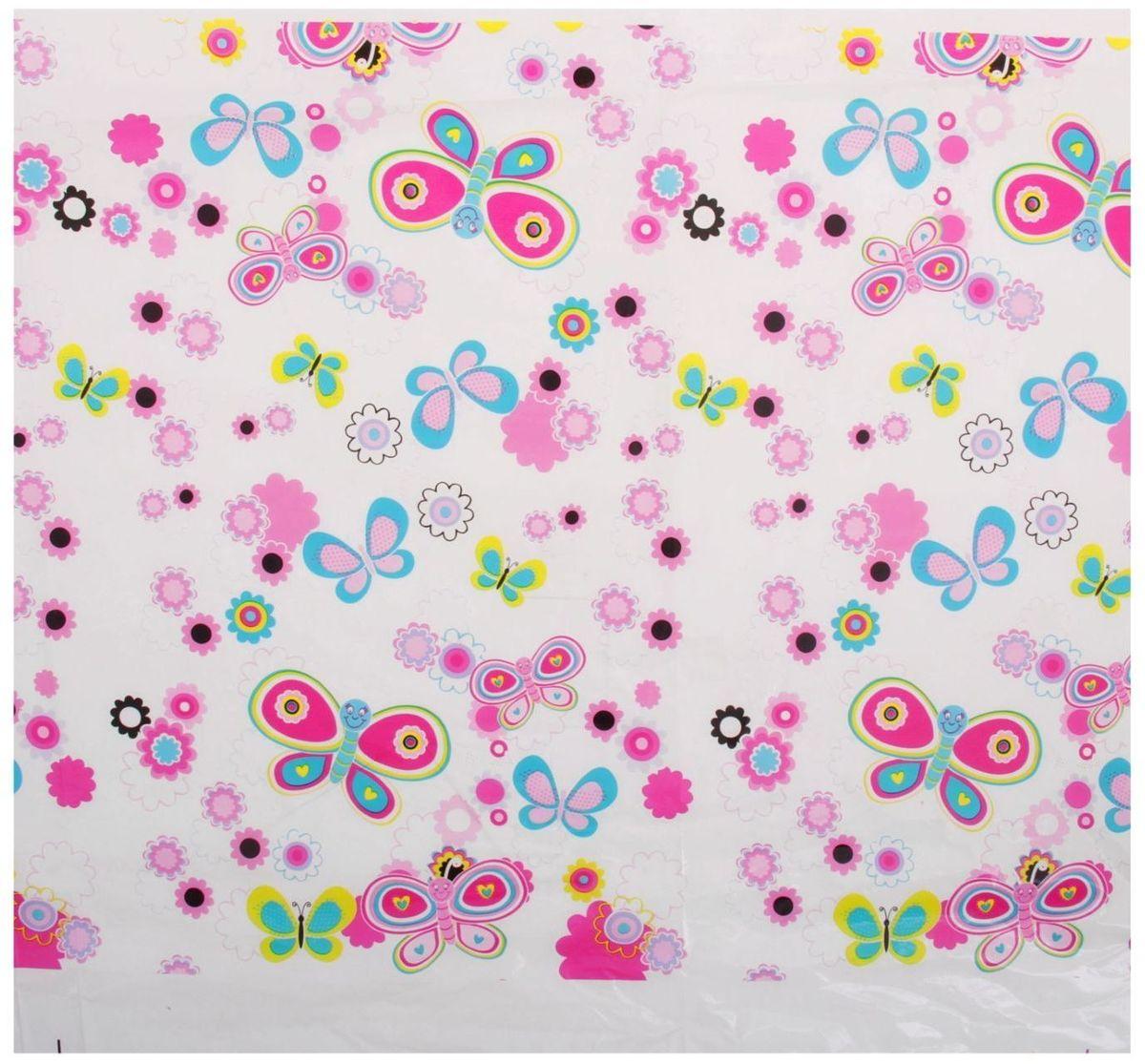Страна Карнавалия Скатерть 108х180 Цветочки бабочки страна карнавалия скатерть 108х180 цветочки бабочки