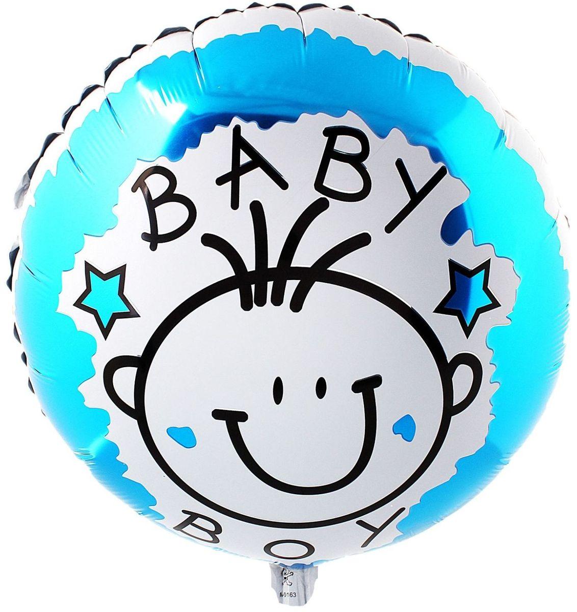 Sima-land Воздушный шарик Маленький мальчик Круг 18