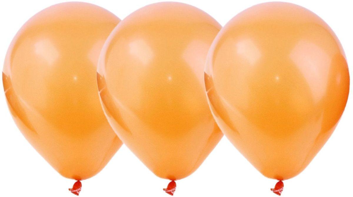 Страна Карнавалия Шар латекс Пастель Оранжевый 100 шт