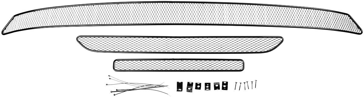 Сетка для защиты радиатора Arbori, внешняя, для Mitsubishi OutLender (2015-), 3 шт Уцененный товар (№5) сетка на бампер внешняя arbori для peugeot boxer 2007 2014 3 шт