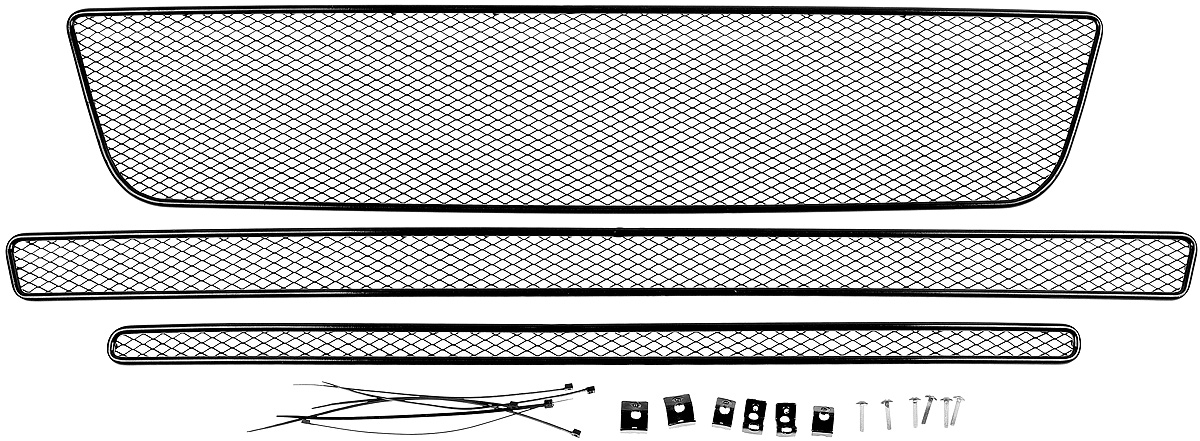 Сетка на бампер внешняя Arbori, для Ford Explorer 2015->, для автомобилей без камеры, 3 шт сетка на бампер внешняя arbori для peugeot boxer 2007 2014 3 шт