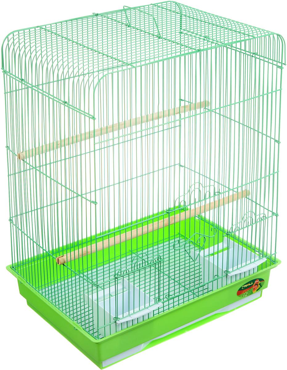 "клетка для птиц ""triol"", цвет: зеленый, 43 х 30,5 х 58 см"