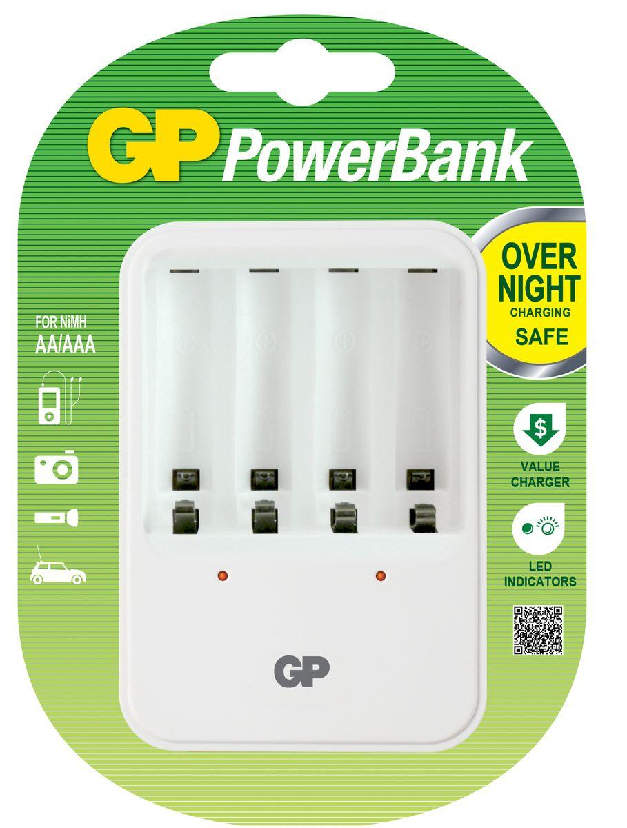 Зарядное устройство GP Batteries, для заряда 4-х аккумуляторов типа АА, ААА зарядное для аккумуляторов gp batteries 2 ааа 650 mah