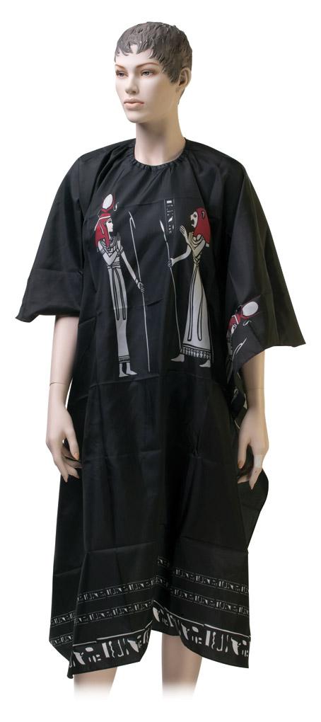 Dewal Пеньюар для стрижки Египет, нейлон, черный 124х146 см, на крючках livia corsetti amaretta черный пеньюар из атласного материала