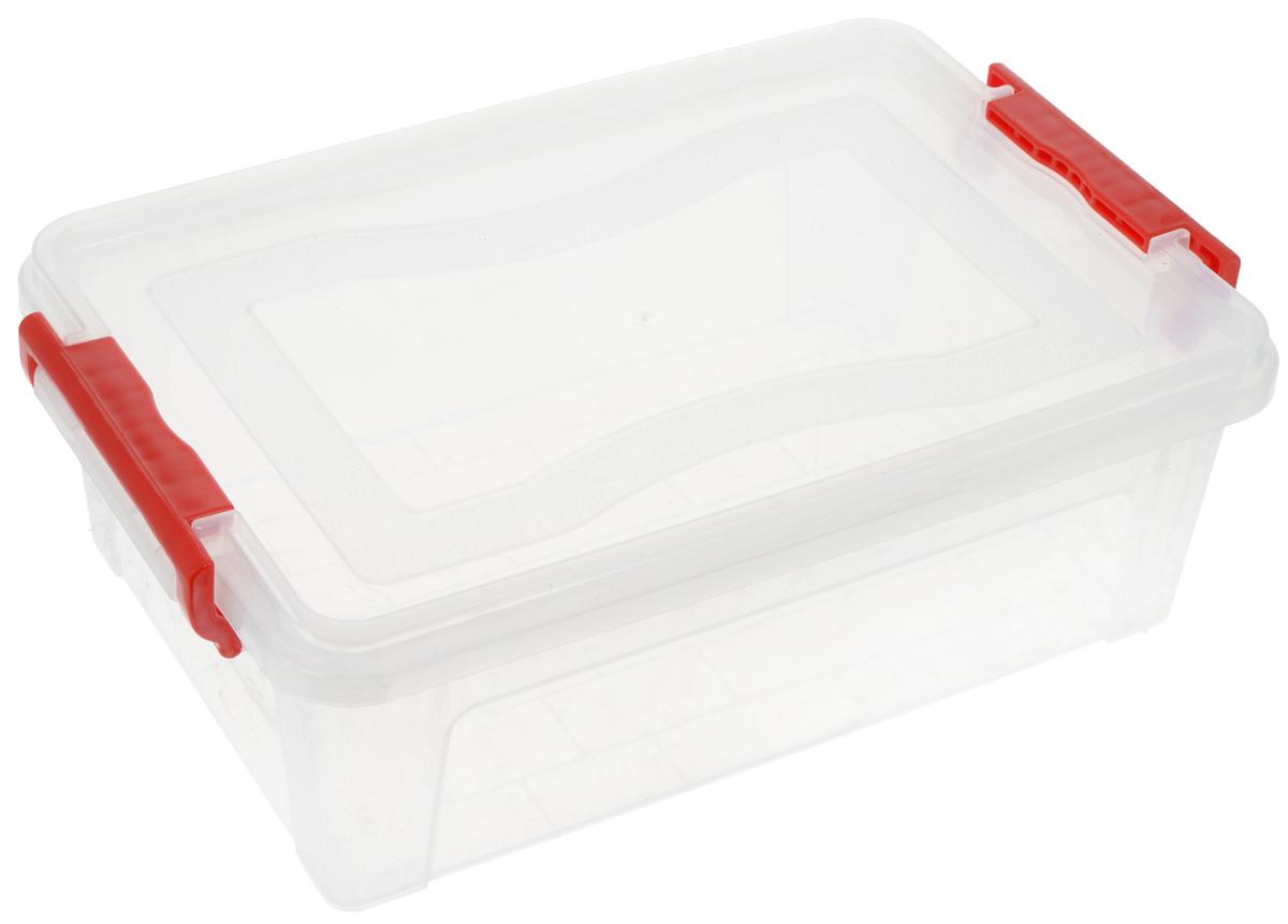 Контейнер для хранения Idea, прямоугольный, цвет: красный, прозрачный, 6,3 л контейнер для хранения idea прямоугольный цвет салатовый прозрачный 8 5 л