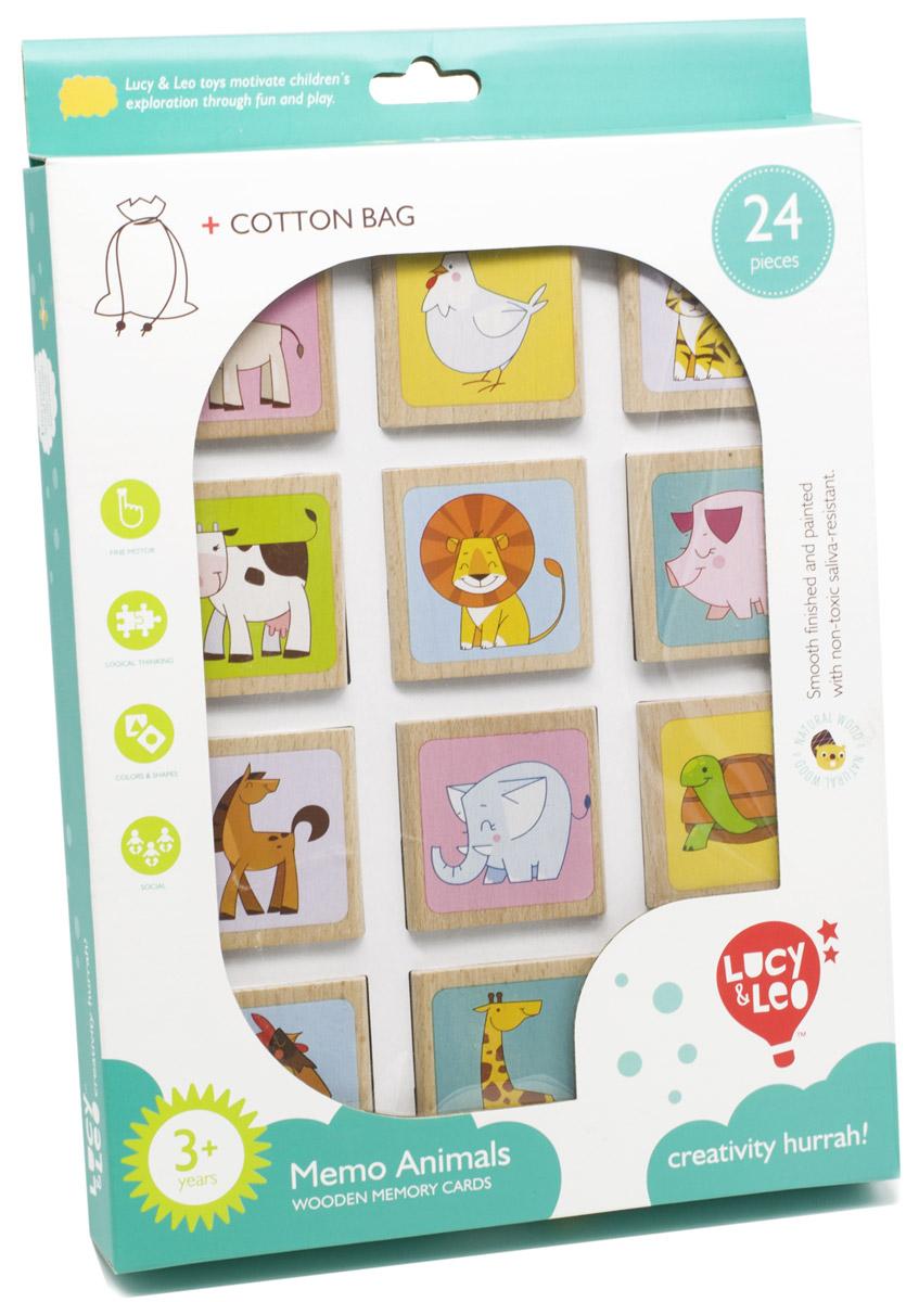 Lucy&Leo Настольная игра Животные Мемо игры для малышей pic n mix игра настольная лесные животные