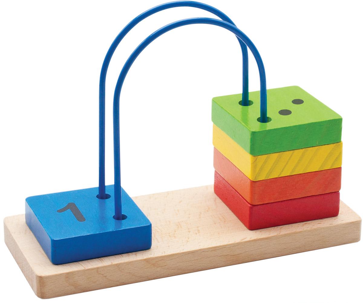 Мир деревянных игрушек Счеты перекидные малые набор для развития моторики мир деревянных игрушек д189