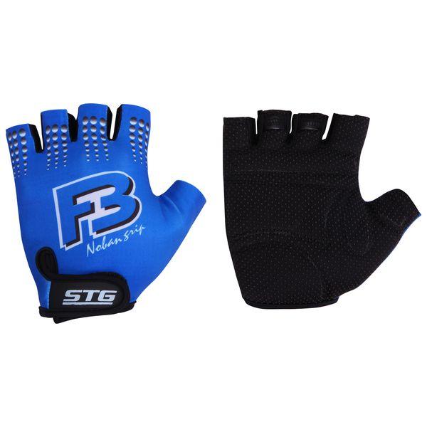 Перчатки велосипедные STG летние, цвет: синий. Размер M. Х61886 улитка wonny zx 090 велосипедные перчатки антискользящие шок летние дышащие перчатки перчатки перчатки синий m
