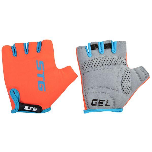 Перчатки велосипедные STG AL-03-325, летние, цвет: оранжевый, черный. Размер S. Х74365 перчатки велосипедные stg al 03 325 летние цвет оранжевый черный размер xl х74365