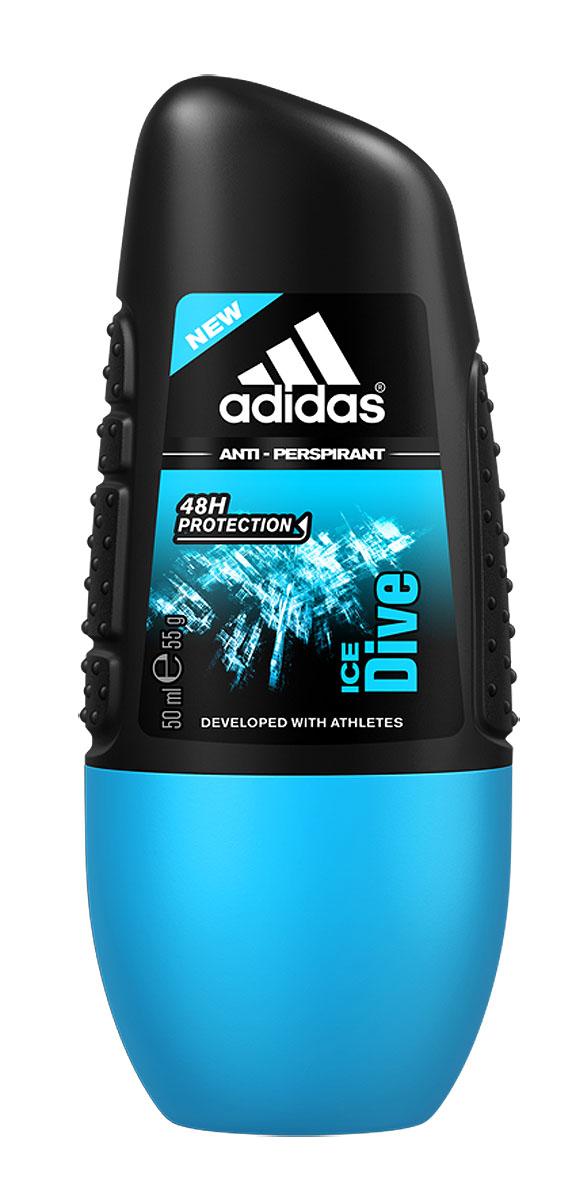 """Adidas Дезодорант-антиперспирант ролик """"Ice Dive"""", мужской, 50 мл"""