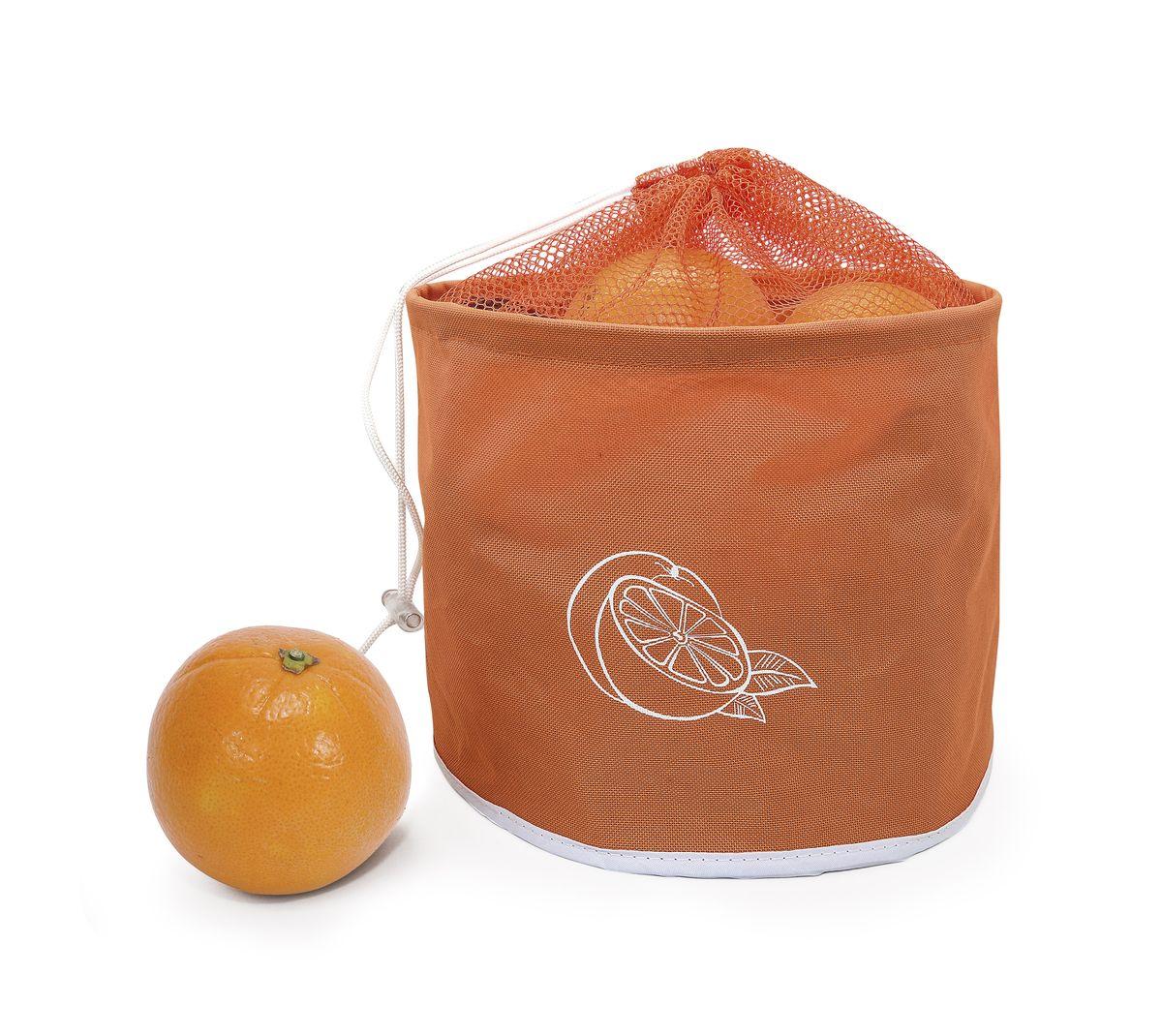 Сумка для хранения цитрусовых Iris Barcelona, до 5 кг, цвет: оранжевый bloomingville сумка для хранения plus