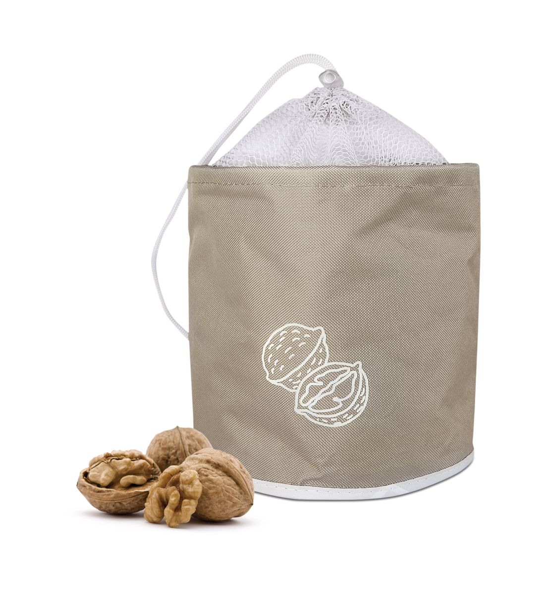 Сумка для хранения орехов Iris Barcelona, до 3 кг, цвет: бежевый bloomingville сумка для хранения plus