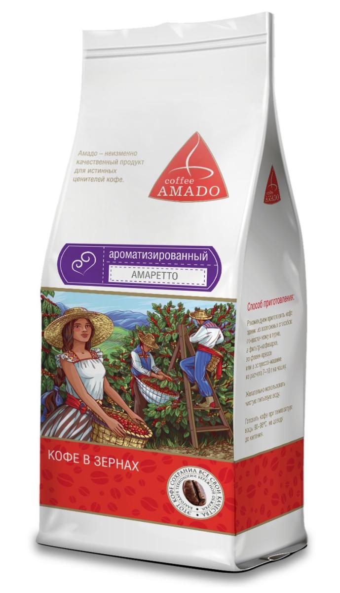 AMADO Амаретто кофе в зернах, 200 г amado шоколад кофе в зернах 200 г