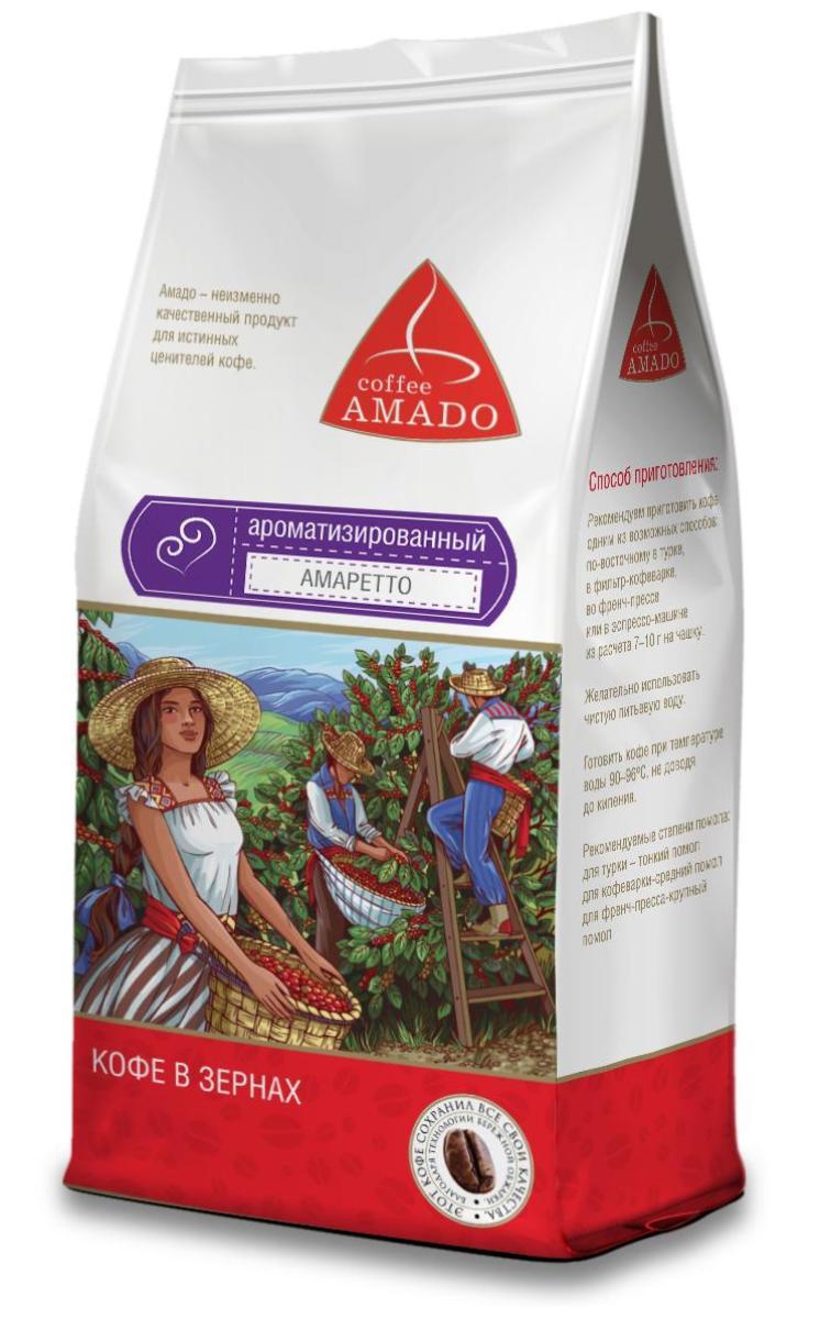 AMADO Амаретто кофе в зернах, 500 г amado шоколад кофе в зернах 200 г