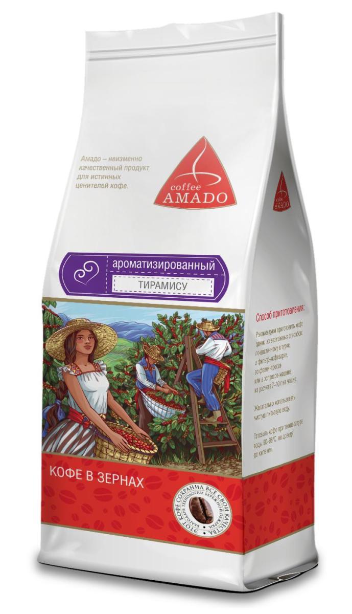 Amado Тирамису кофе в зернах, 200 г amado шоколад кофе в зернах 200 г
